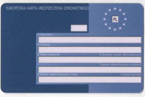 EKUZ, Europejska Karta Ubezpieczenia Zdrowotnego